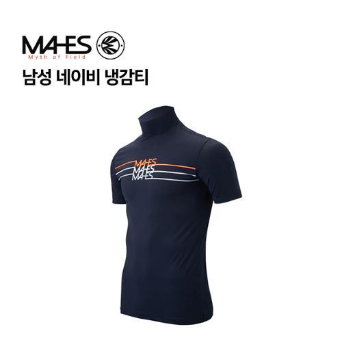 [마헤스] 남성 네이비 냉감티 GP70213 골프패션
