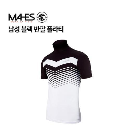 [마헤스] 남성 블랙 반팔 폴라티 GP70208 골프패션