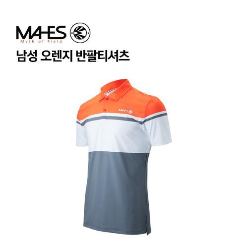 [마헤스] 남성 오렌지 반팔티셔츠 GS50351 골프패션