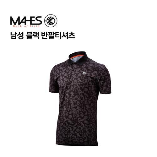 [마헤스] 남성 블랙 반팔티셔츠 GS50334 골프패션