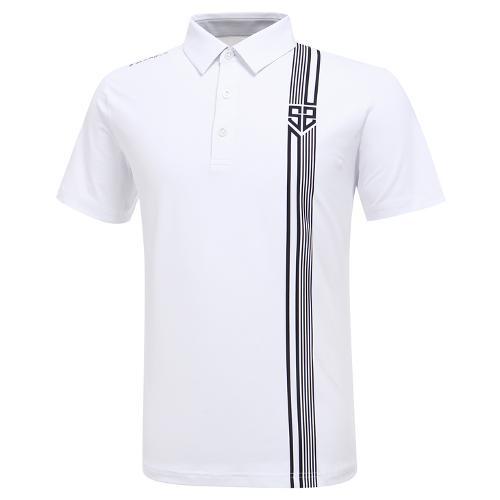 [와이드앵글] 남성 HSS 버티컬라인 반팔 티셔츠 M WMU20201W2