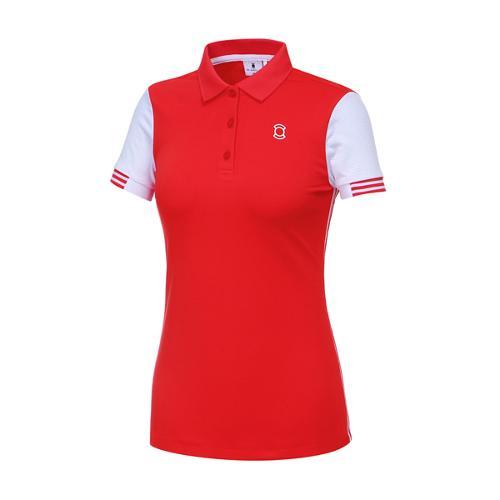 [와이드앵글] 여성 T-UP 메쉬소매 솔리드 티셔츠 WWM17242R1
