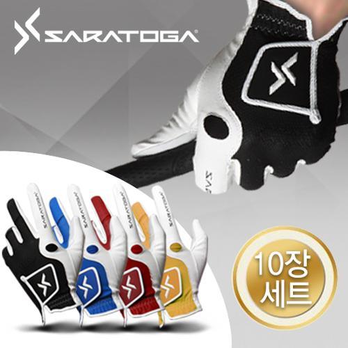 [10장1세트]사라토가 남성 Digital Skin 컬러 골프장갑 (4가지색상)