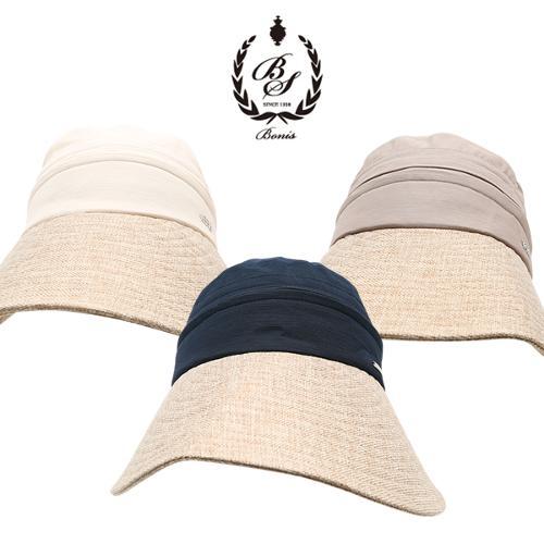 [보니스 골프] 2in1 탈부착 여성 와이드챙 모자/변형 썬캡/골프모자_250353