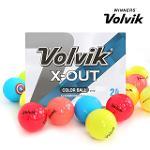 [볼빅 정품] X-OUT 컬러 혼합 3,4피스 혼합 컬러 골프공_24 알세트