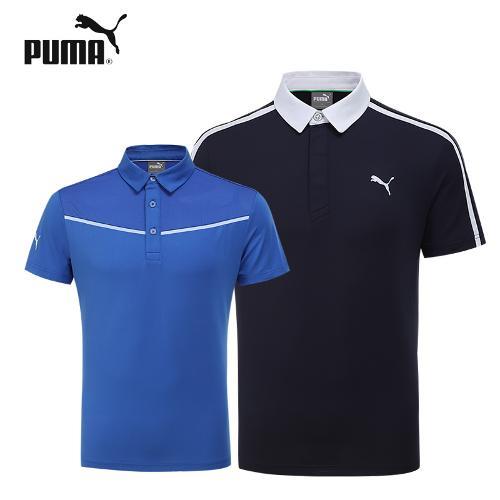 푸마골프 스트레치 폴로 남성 반팔 티셔츠
