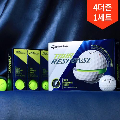 4더즌 총48구/테일러메이드 투어 리스펀스 3피스 에펄트리스 컴프레션 우레탄 골프공
