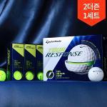 2더즌 총24구/테일러메이드 투어 리스펀스 3피스 에펄트리스 컴프레션 우레탄 골프공