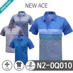 [NEW ACE] 뉴에이스 PK 패턴배색 반팔 카라티셔츠 Model No_N2-0Q010