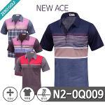 [NEW ACE] 뉴에이스 블록배색 반팔 면 카라티셔츠 Model No_N2-0Q009