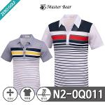 [MASTER BEAR] 마스터베어 스트라이프 컬러 스판 반팔티셔츠 Model No_N2-0Q011