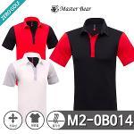 [MASTER BEAR] 마스터베어 컬러배색 스판 반팔 카라티셔츠 Model No_M2-0B014