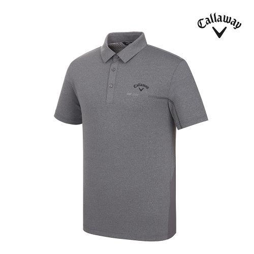 [캘러웨이]남성 등판 메쉬 카라 반팔 티셔츠 CMTYJ2366-193_G