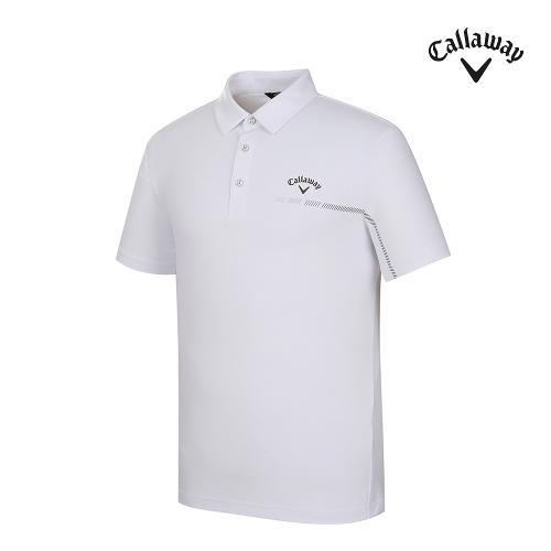 [캘러웨이]남성 등판 메쉬 카라 반팔 티셔츠 CMTYJ2366-100_G