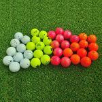 3피스 골프공 실속형 로스트볼 비재생 칼라 골프볼