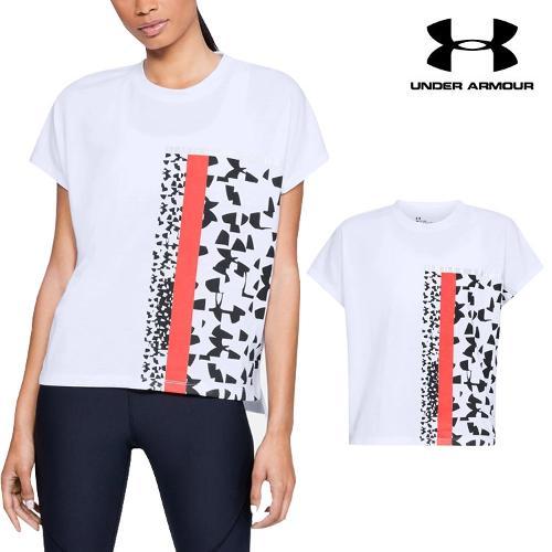 언더아머 여성 에센셜 패치워크 반팔 티셔츠 1310479