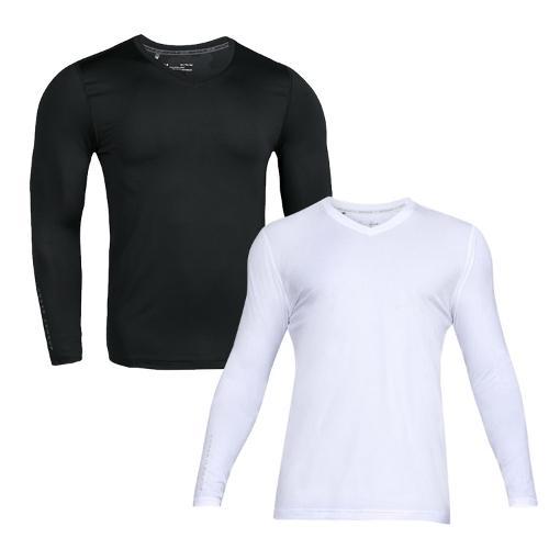 언더아머 남성 쿨스위치 브이넥 긴팔 티셔츠 1306308