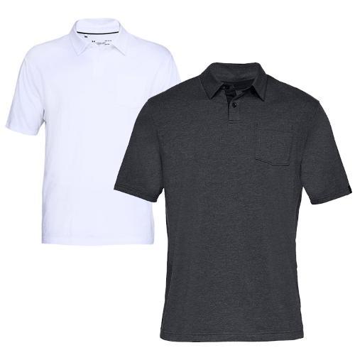 언더아머 남성 스크램블 폴로 반팔 티셔츠 1321111