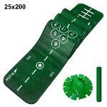 제이빅-피스탑 골프 퍼팅매트/골프연습용품/볼궤적 표시 25x200