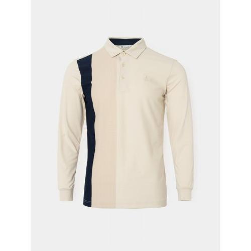 [빈폴골프] 남성 베이지 원포인트 칼라 티셔츠 (BJ0741B05A)