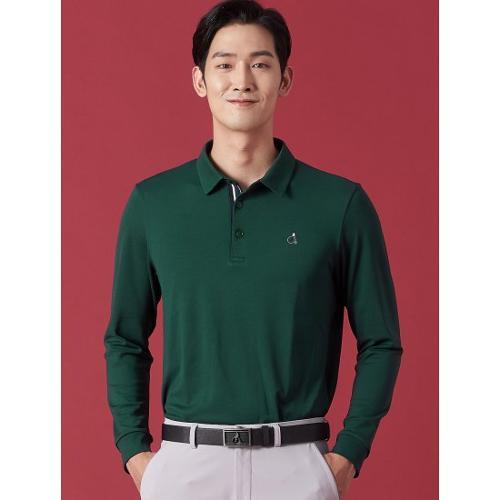 [빈폴골프] 남성 그린 에센셜 칼라 티셔츠 (BJ0841B70M)