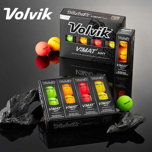 [볼빅] VIMAT SOFT 비맷 소프트 무광 컬러 골프볼 [2피스][1더즌12알]