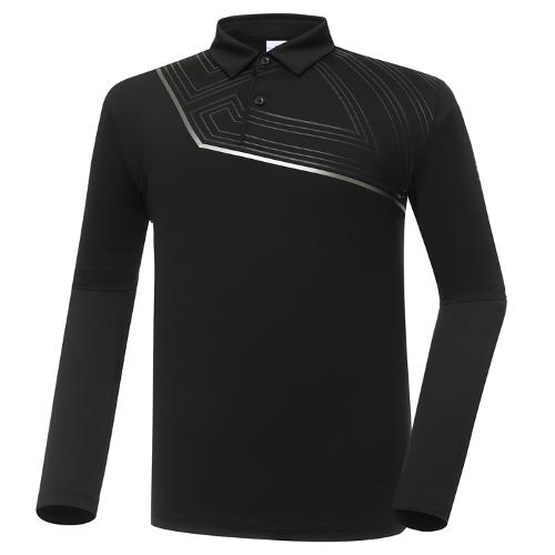 [와이드앵글] 남성 HSS 블럭형 카라 긴팔 티셔츠 M WMU20209Z1