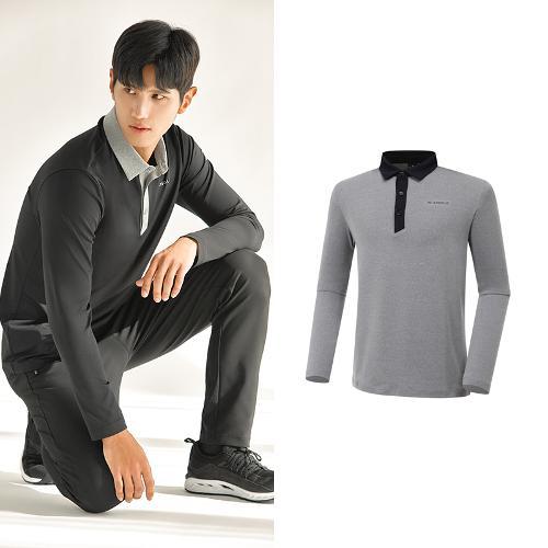 [와이드앵글] 남성 ONEX 변형 카라 긴팔 티셔츠 M WMU20292C8