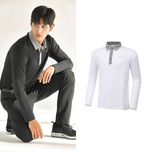 [와이드앵글] 남성 ONEX 변형 카라 긴팔 티셔츠 M WMU20292W3