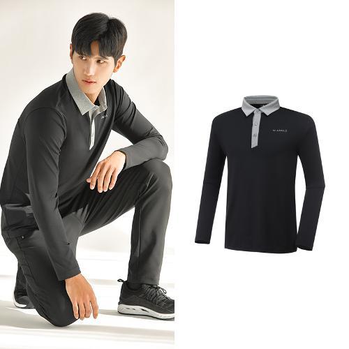 [와이드앵글] 남성 ONEX 변형 카라 긴팔 티셔츠 M WMU20292Z1