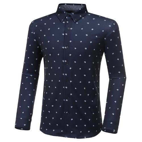 [와이드앵글] 남성 져지 W 패턴 긴팔 셔츠 M WMU20441N4
