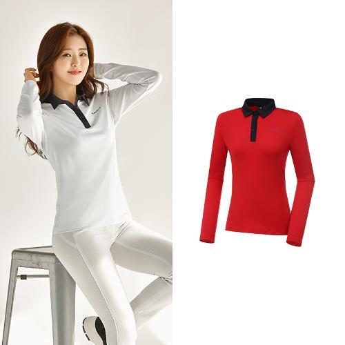 [와이드앵글] 여성 ONEX 변형 카라 긴팔 티셔츠 L WWU20292R2