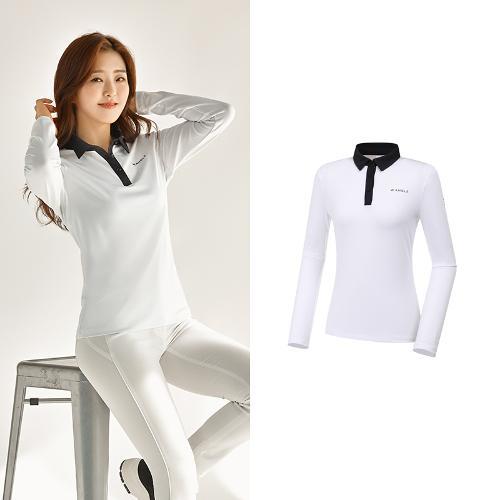 [와이드앵글] 여성 ONEX 변형 카라 긴팔 티셔츠 L WWU20292W3