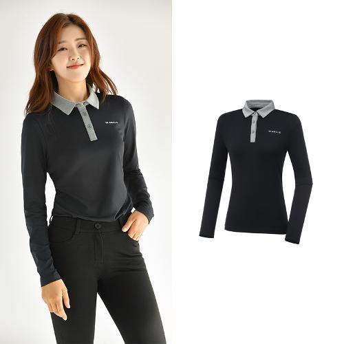 [와이드앵글] 여성 ONEX 변형 카라 긴팔 티셔츠 L WWU20292Z1