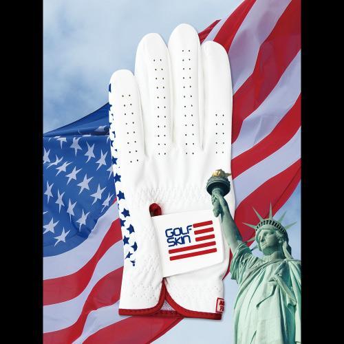 [골프스킨 골프장갑] 미국 - 최상의그립감 미끄럼방지 세탁가능 특수원단 스마트폰터치 (왼손)