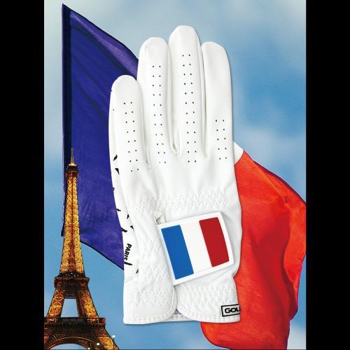 [골프스킨 골프장갑] 프랑스 - 최상의그립감 미끄럼방지 세탁가능 특수원단 스마트폰터치 (왼손)