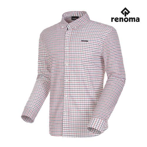 [레노마골프]남성 태터솔 체크 버튼다운 코튼 셔츠 RMBSG3601-100_G