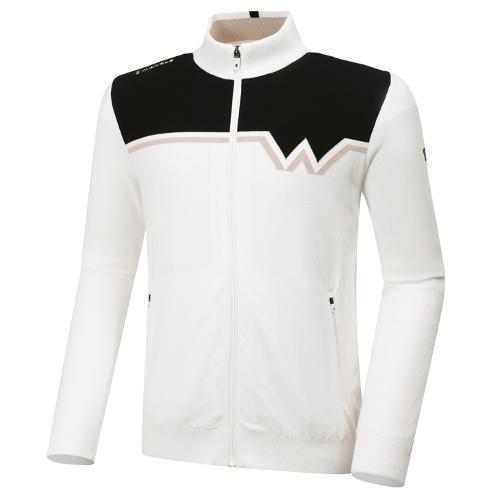 [와이드앵글] 남성 WL W포인트 풀짚업 방풍 긴팔 스웨터 M WMU20K05W3