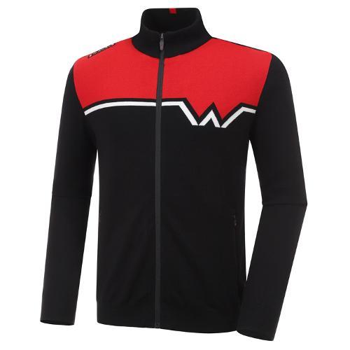 [와이드앵글] 남성 WL W포인트 풀짚업 방풍 긴팔 스웨터 M WMU20K05Z1