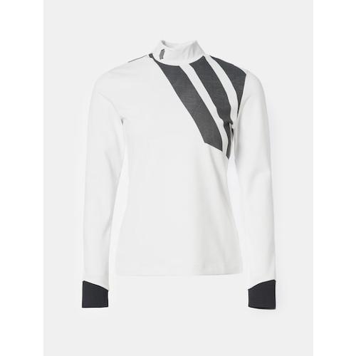 [빈폴골프] [NDL라인] 여성 화이트 볼드 로고 하이넥 티셔츠 (BJ0841L491)