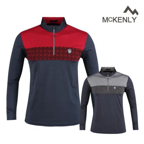 맥켄리 반집업 고기능 긴팔 골프 셔츠 RM20A436
