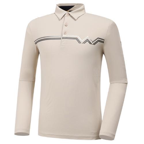 [와이드앵글] 남성 WL W웰딩 포인트 긴팔 티셔츠 M WMU20212E2