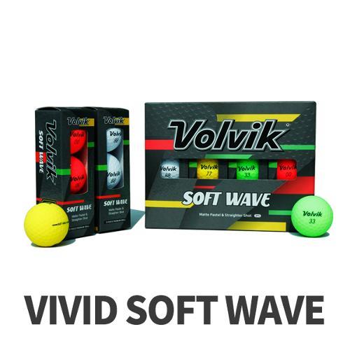 볼빅 NEW 비비드 소프트웨이브 무광 3피스 골프공