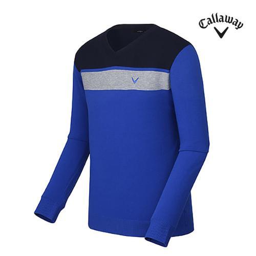 [캘러웨이]남성 블록 브이넥 티셔츠 CMSRF3202-906_G