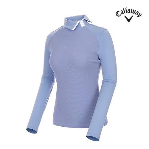 [캘러웨이]여성 하이넥 포인트 골지 티셔츠 CWTHI7251-920_G