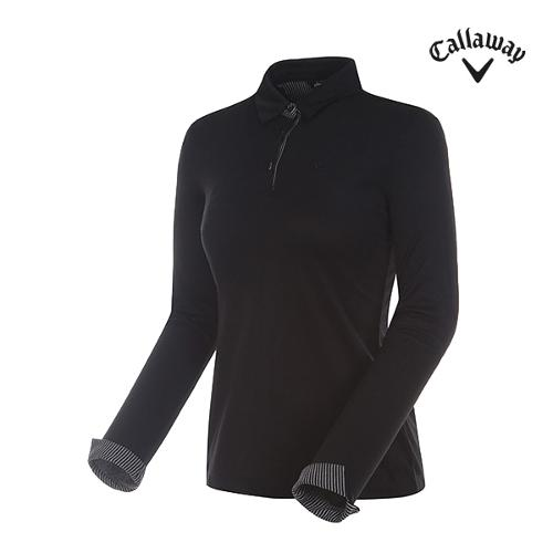 [캘러웨이]여성 스트라이프 카라 티셔츠 CWTYG7171-199_G
