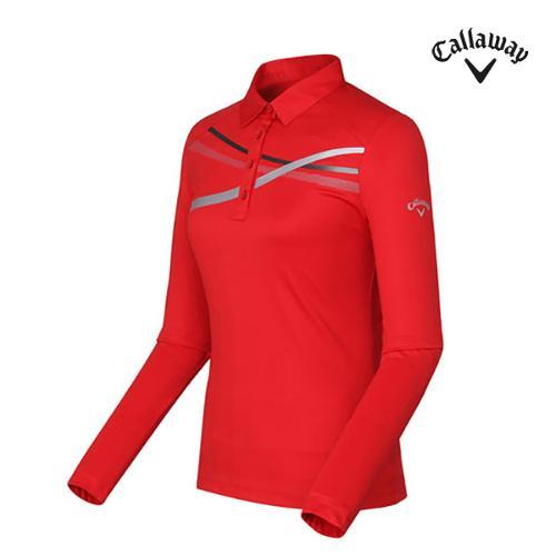 [캘러웨이]여성 라인 카라 티셔츠 CWTYF7101-500_G