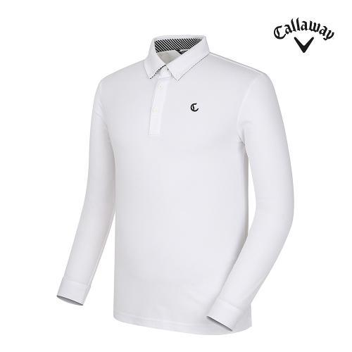 [캘러웨이] 남성 베이직 카라 긴팔 티셔츠 CMTYG3171-100_G