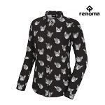 [레노마골프]여성 프렌치독 패턴 카라 긴팔 셔츠 RWTYG7105-199_G