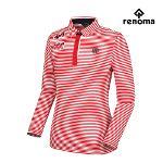 [레노마골프]여성 스트라이프 자수 카라 긴팔 티셔츠 RWTYF7106-500_G